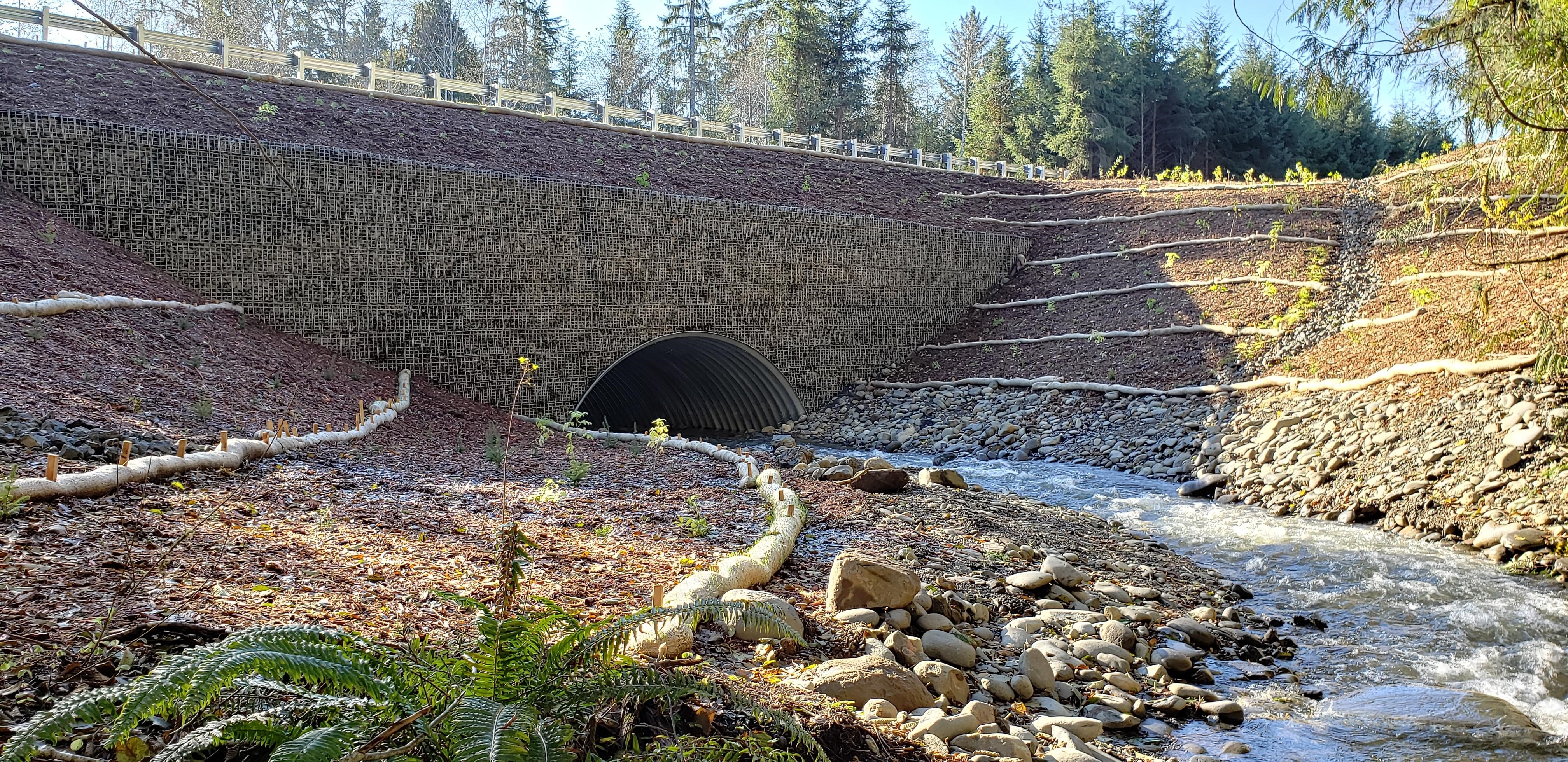 Johnson Creek Culvert Replacement MSE Welded Wire Wall