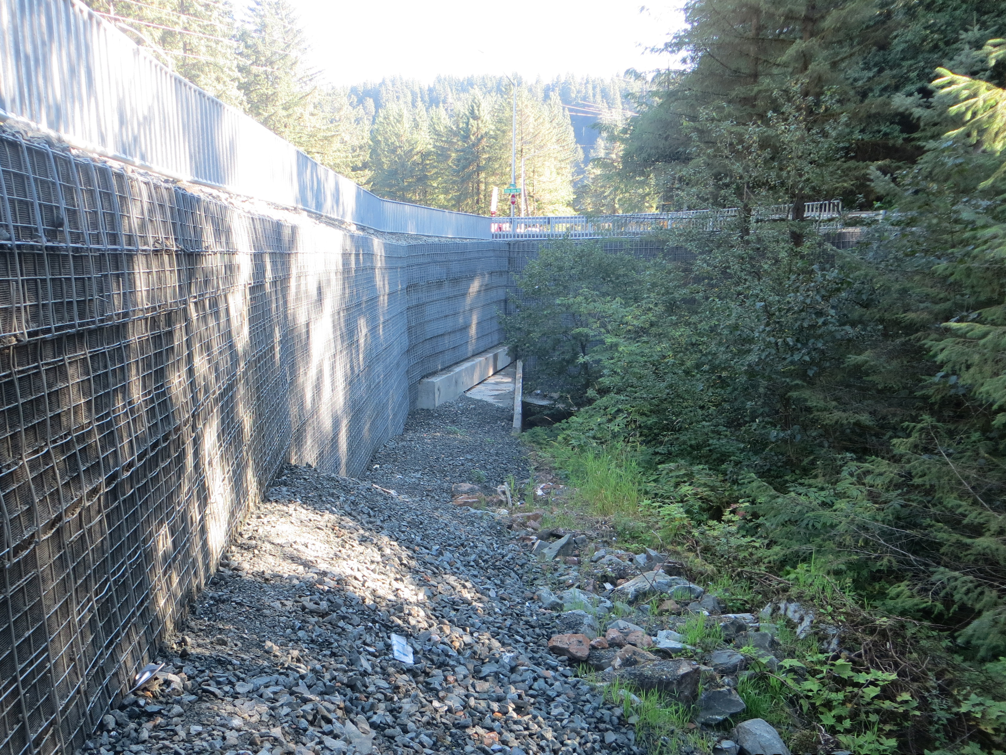 Glacier Highway Reconstruction MSE Welded Wire Wall