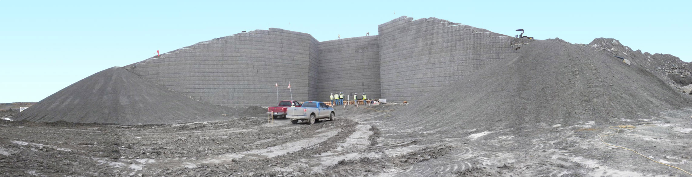 Bear Run Mining Project MSE Welded Wire Wall