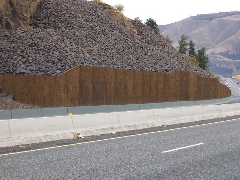 I-84 Rockfall MSE 2 Stage ERS Wall