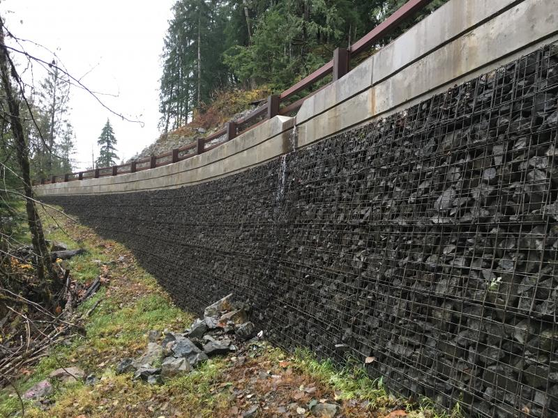 MSE Welded Wire Wall Snoqualmie River