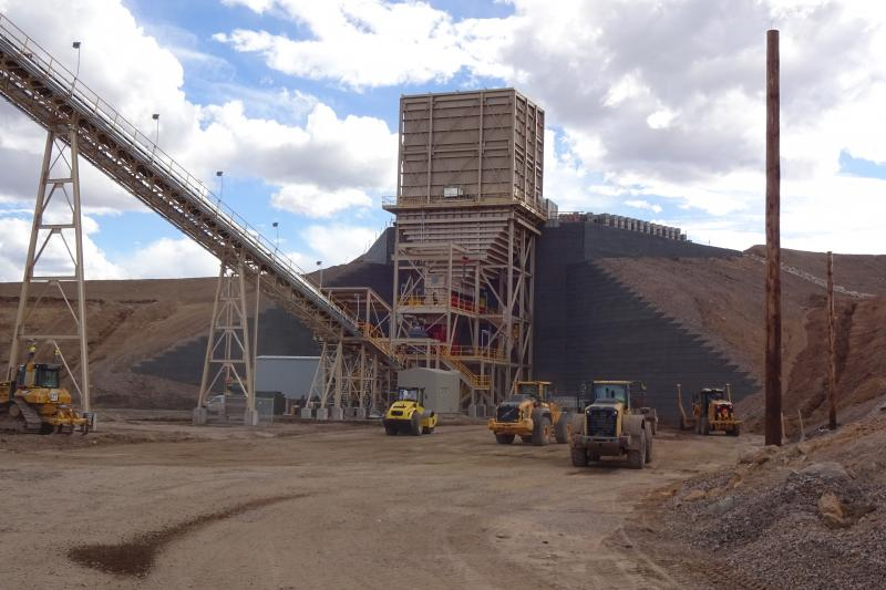 Meeker Colorado Mine Crusher Wall