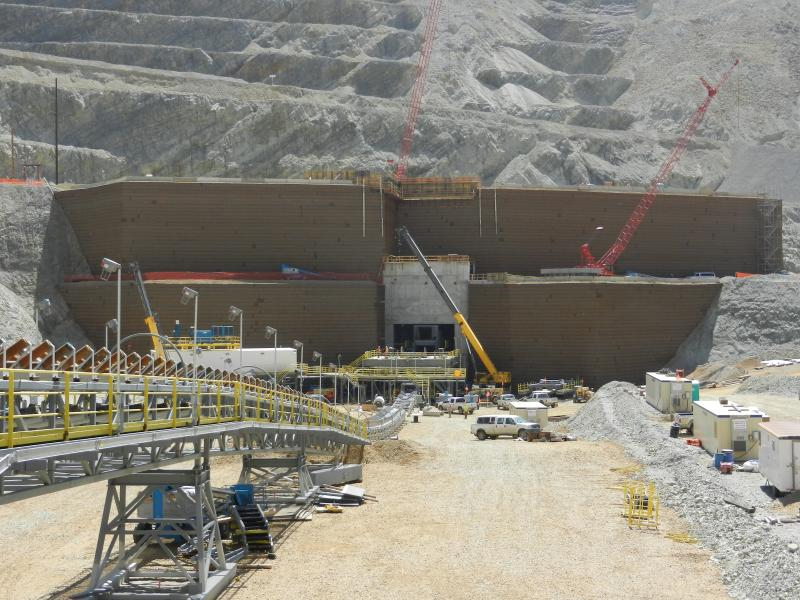 Bingham Canyon Crusher Relocation 2010