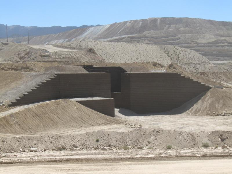 Round Mountain Nevada Primary Crusher Relocation MSE Welded Wire Wall