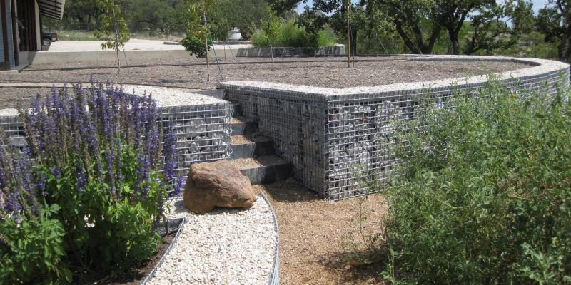 ArtWeld Gabion Miller Ranch Barn