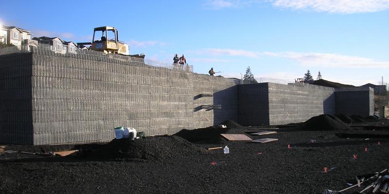 MSE Welded Wire Wall Progress Ridge