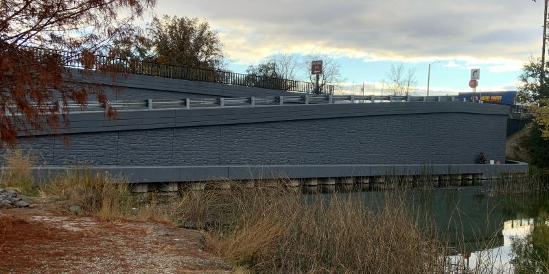 SH-55 Snake River Bridge Marsing ERS two stage panel wall