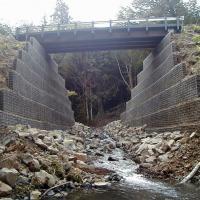Miller Creek Trinity Spiralnail MSE wall