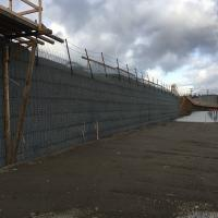 Georgetown Crossroads Development MSE Welded Wire Bridge Abutment