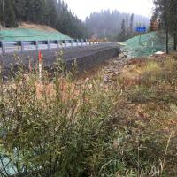 Retaining Wall Over Culverts SH 55 MSE Welded Wire Wall