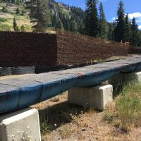 hot wheels at alpine meadows MSE Welded Wire Wall