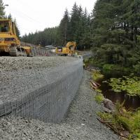 Glacier Highway Reconstruction-1 MSE Welded Wire Wall