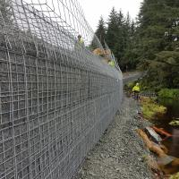 Glacier Highway Reconstruction-2 MSE Welded Wire Wall