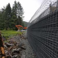 Glacier Highway Reconstruction-3 MSE Welded Wire Wall