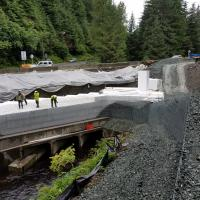Glacier Highway Reconstruction-5 MSE Welded Wire Wall