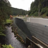 Glacier Highway Reconstruction-7 MSE Welded Wire Wall