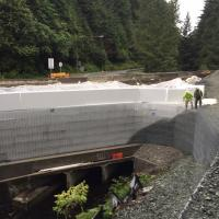 Glacier Highway Reconstruction-8 MSE Welded Wire Wall