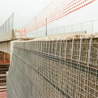 Center Street Bridge MSE Welded Wire Wall Bridge Abutment