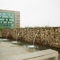 Gabion Fountain at Riverpoint Center