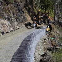 Spruce RR Seg. B MSE Welded Wire Wall