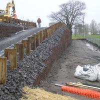 Appletree Crossover Maintenance & Access Berm MSE Welded Wire Wall