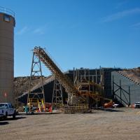 Meeker Colorado Mine Crusher Wall