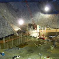 night mining project construction UT MSE Welded Wire Wall