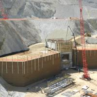 Bingham Canyon Crusher Relocation 2010 MSE Welded Wire Wall