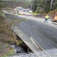Glacier Highway Reconstruction-10 MSE Welded Wire Wall