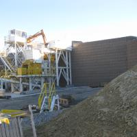 MSE Welded Wire Wall Aggregate Plant