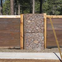 Timber Sky ArtWeld Gabions