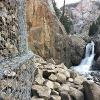 Boulder Falls Slope Mitigation Gabion Wall