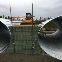 sterling hwy MSE Welded Wire Wall around Culverts