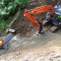 Cowlits Valley MSE Steepened Slope wall