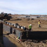 SH 16 Over Phyllis Canal & Joplin Rd MSE two stage ERS Wire Wall