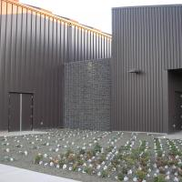 Polk County Readiness Center gabions and trinity baskets