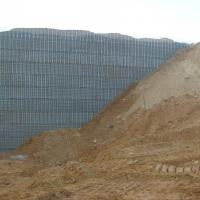Wisconsin Frac Sand Plant MSE Welded Wire Wall