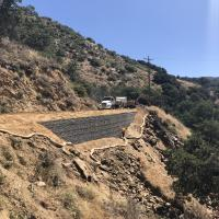 Angel Mountain Road MSE Wall