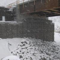 Welded Wire Wall MSE Bridge Abutment Portneuf River