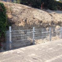 N. Vassault Street Sidewalk Improvements Spiralnail MSE Wall