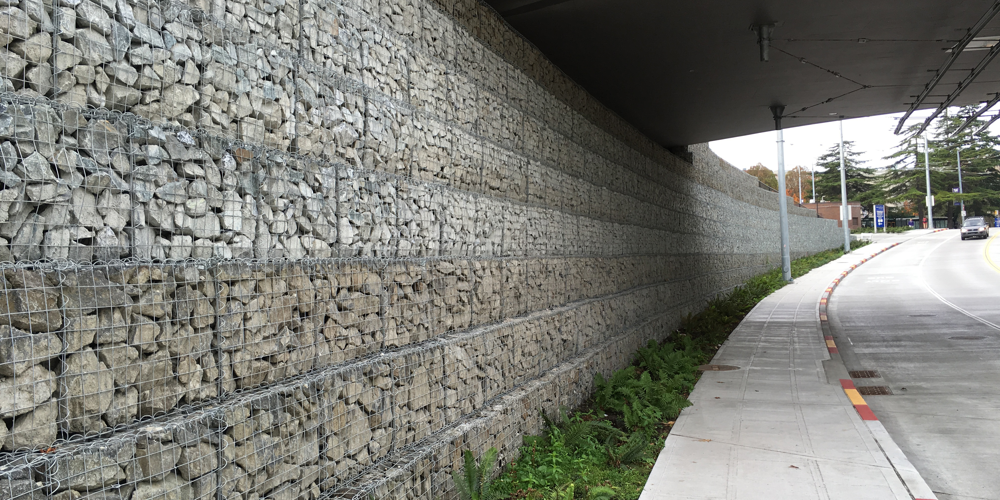 UW Montlake Triangle Gabion Faced MSE Wall